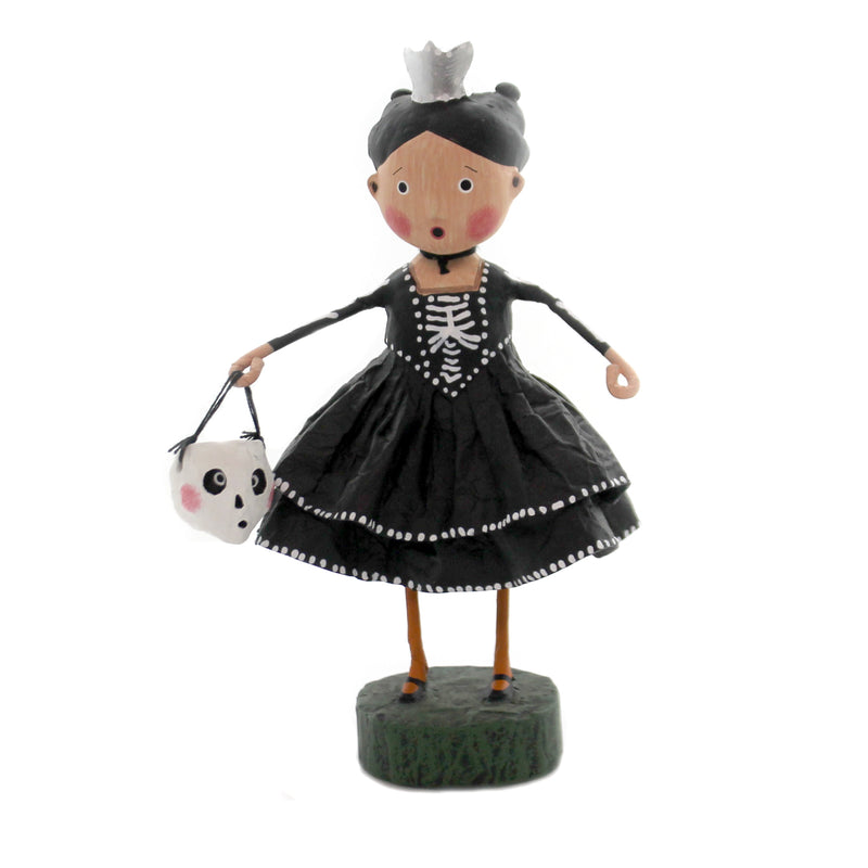 Lori Mitchell SKELETON PRINCESS Polyresin Halloween Witch 11162