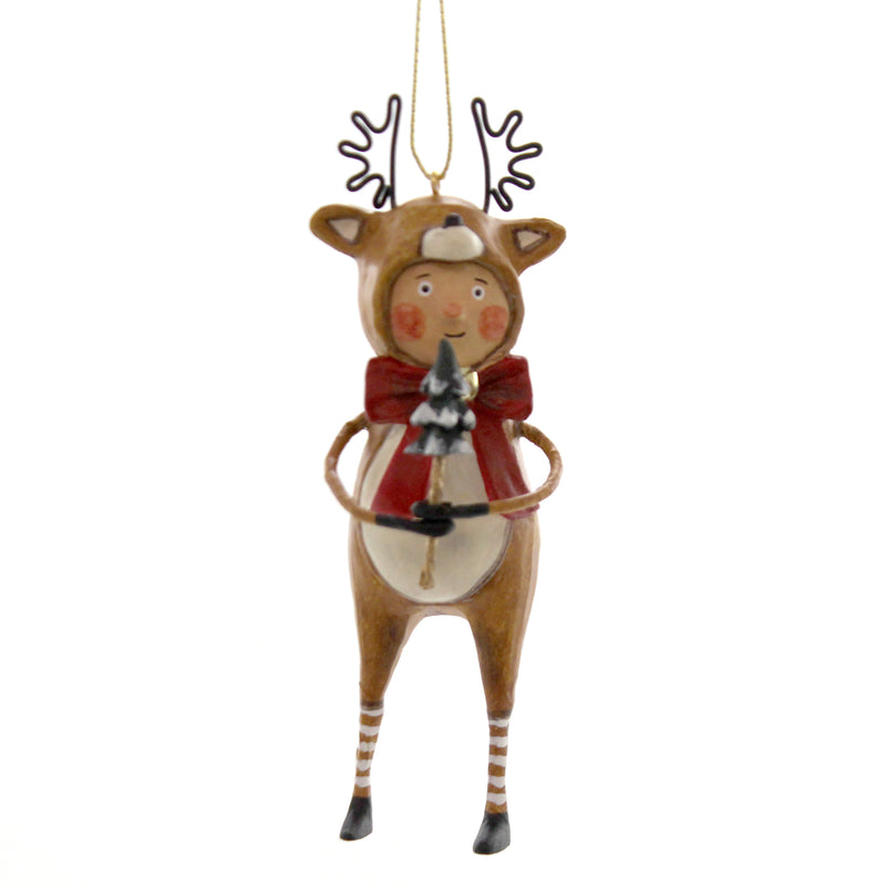 Lori Mitchell LITTLE DASHER ORNAMENT Polyresin Christmas Reindeer 11153