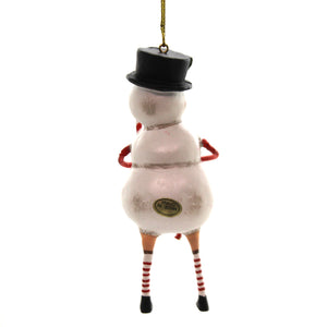 Lori Mitchell CHILLY WILLY ORNAMENT Polyresin Snowman Christmas 11151