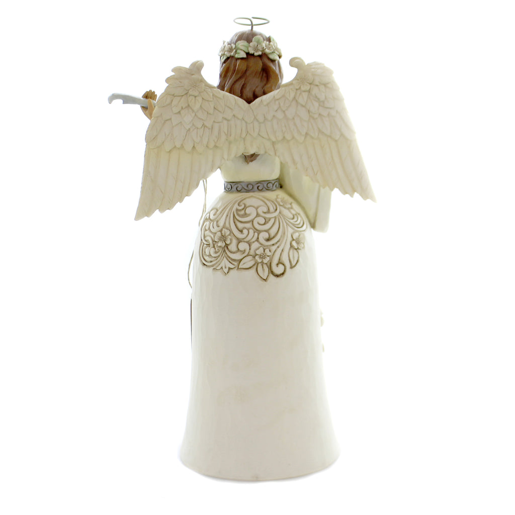 Jim Shore BREATH OF HEAVEN Polyresin Angel With Nativity 6004173