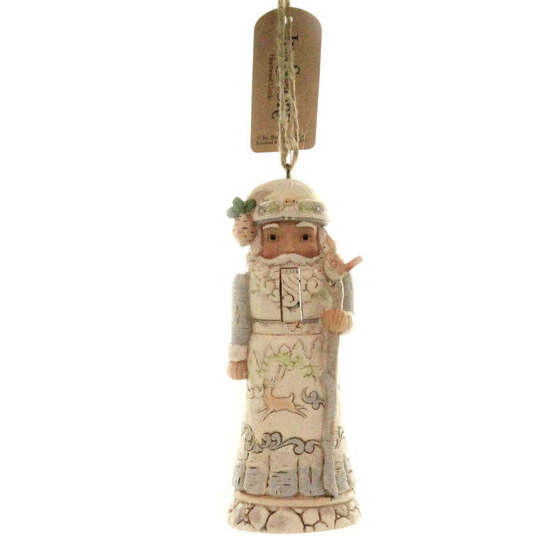 Jim Shore SANTA NUTCRACKER WHITE WOODLAND Polyresin Ornament 6004177