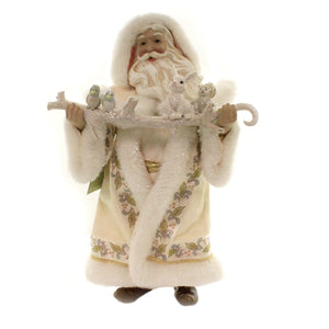 Possible Dreams JIM SHORE WINTER WHITE SANTA Fabric Clothtique 6003431