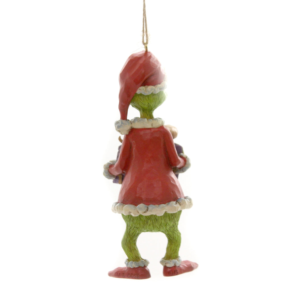 Jim Shore GRINCH HOLDING PRESENT Polyresin Dr Seuss 6004067