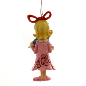 Jim Shore CINDY HOLDING BALL ORNAMENT Polyresin Dr. Seuss 6004068