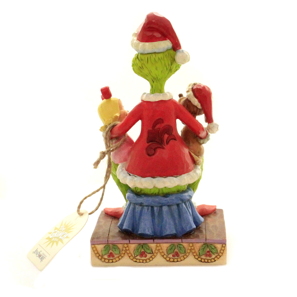 Jim Shore GRINCH WITH CINDY & MAX Polyresin Dr. Seuss 6004064