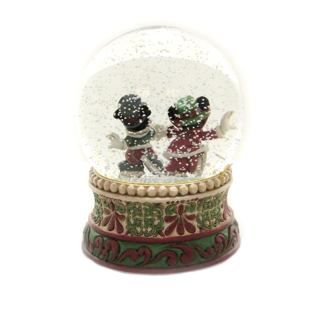 Jim Shore SPLENDID SKATERS Glass Mickey Minnie Mouse 6002832
