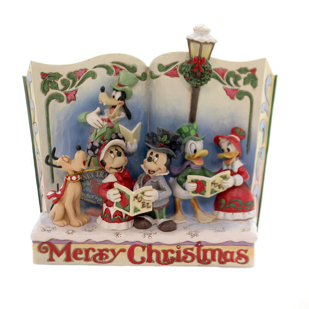 Jim Shore MERRY CHRISTMAS Polyresin Storybook Christmas Carol 6002840