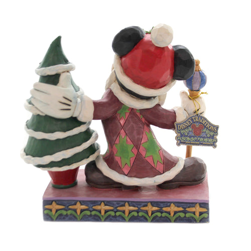 Jim Shore JOLLY OL' ST. MICK Polyresin Mickey Christmas Tree 6002831