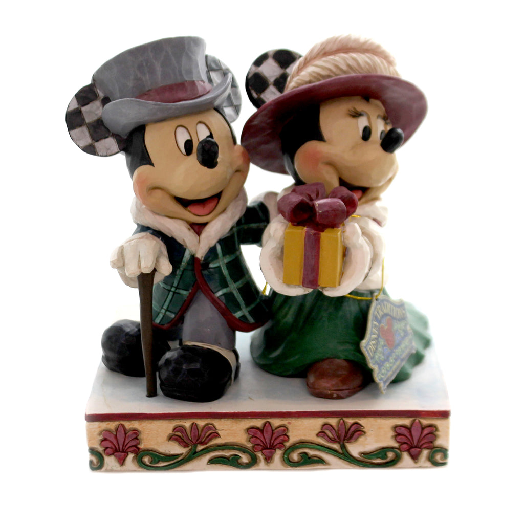 Jim Shore ELEGANT EXCURSION Polyresin Mickey Minnie 6002829