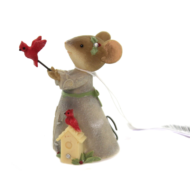 Christmas CHRISTMAS CARDINAL Polyresin Tails With Heart 6003902