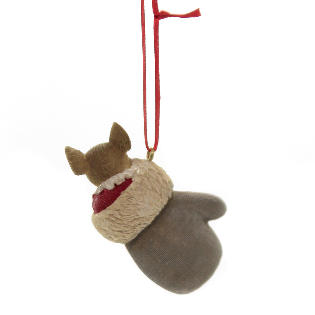 Holiday Ornaments A COZY MITTEN ORNAMENT Polyresin Tails Of Heart 6003912