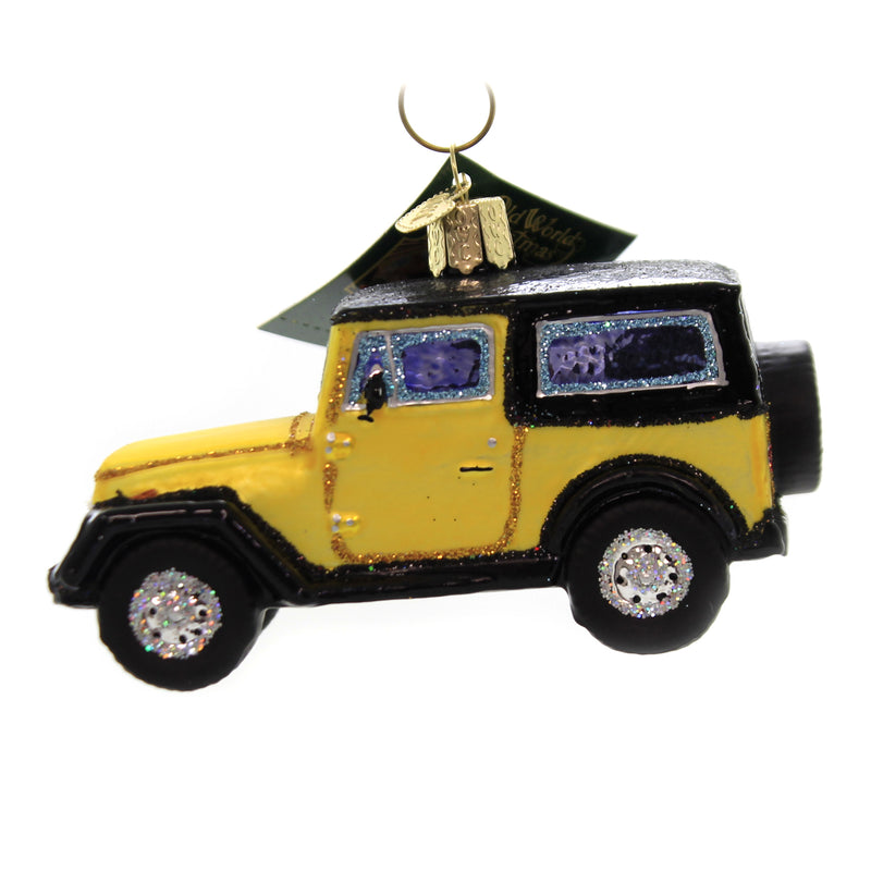 Old World Christmas SPORT UTILITY VEHICLE Glass Adventure Truck 46083