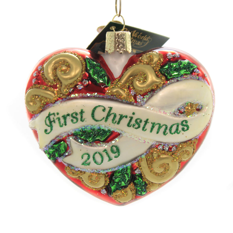Old World Christmas 2019 FIRST CHRISTMAS HEART Glass Celebrations 30057