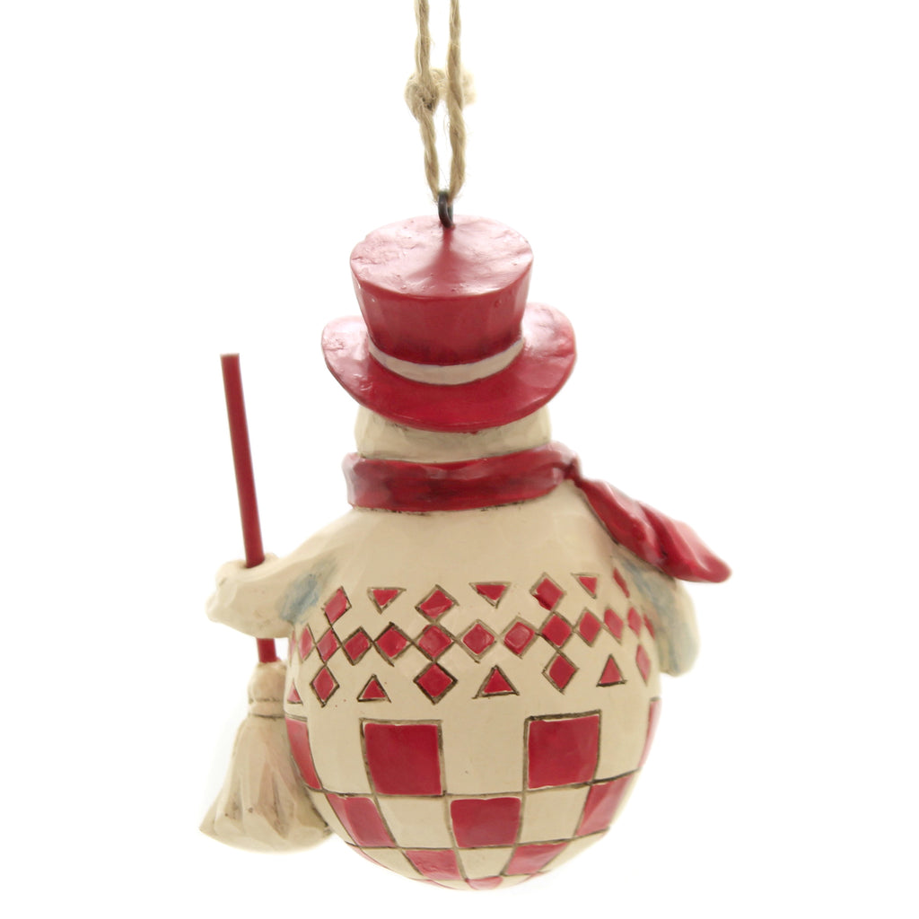 Jim Shore NORDIC NOEL SNOWMAN ORNAMENT Polyresin Scandinavian Fold Art 6004232
