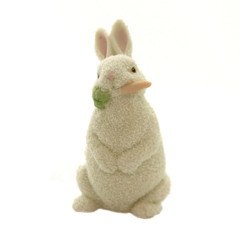 Dept 56 Snowbabies EASTER 1996 SMALL RABBIT Porcelain Easter Bunny Carrot 27642