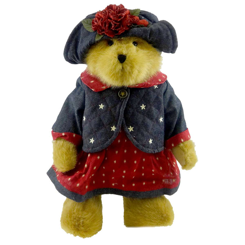 Boyds Bears Plush Pricilla T Spangler Patriotic Teddy Bear