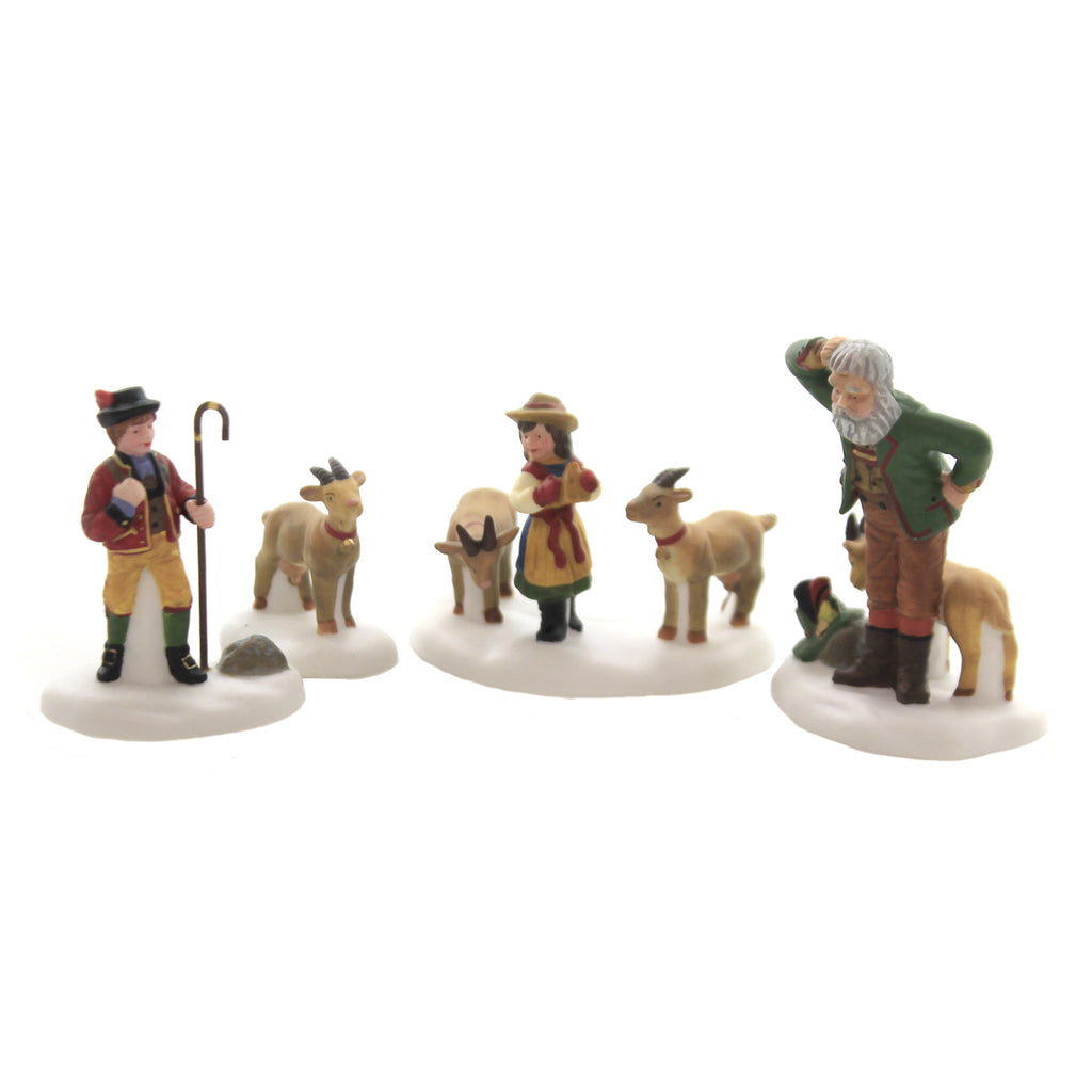 Department 56 Accessory HEIDI & HER GOATS Porcelain Alpine Village Herd 56201