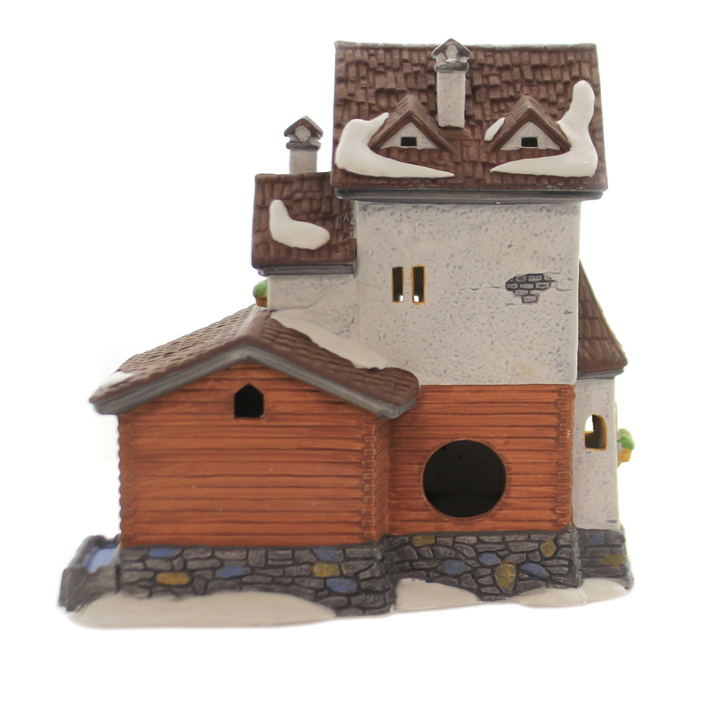 Department 56 House STODER GRIST MILL Porcelain Alpine Village Series 59536