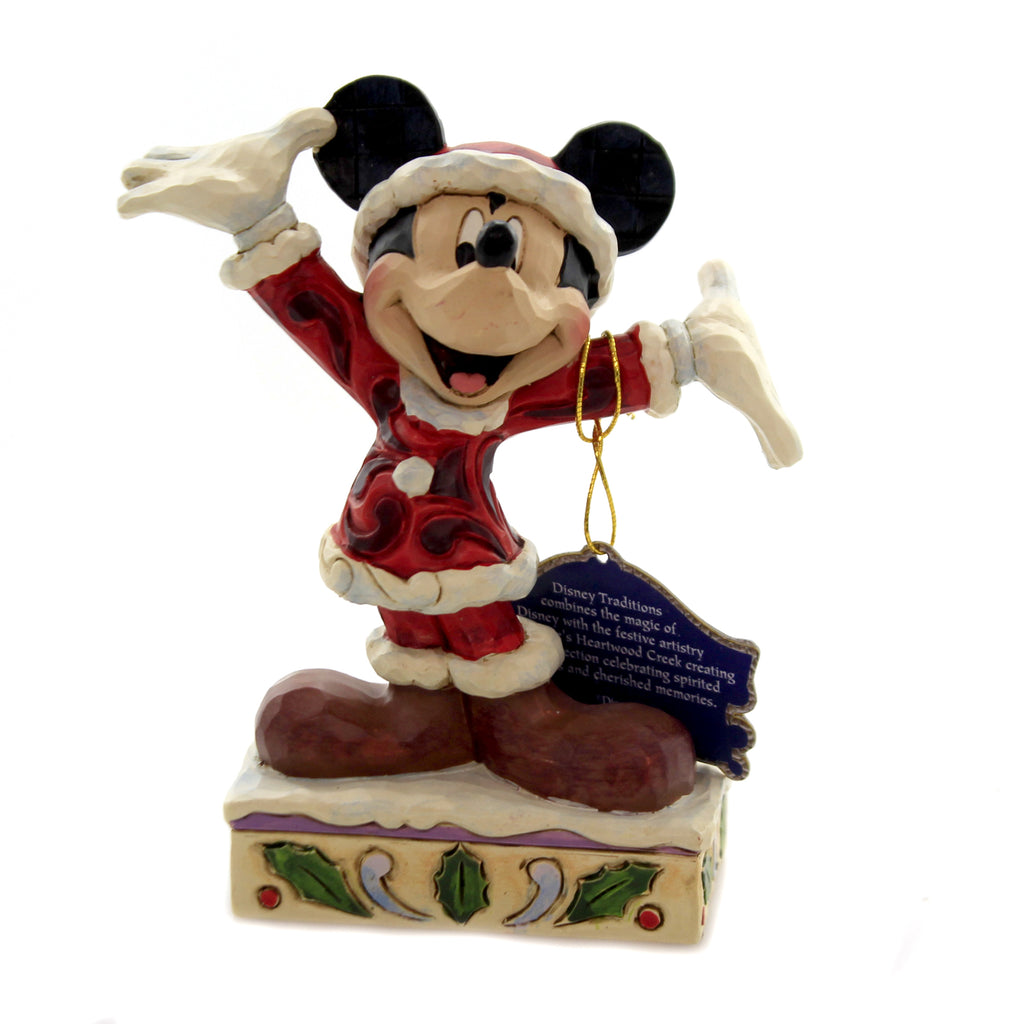 Jim Shore TIS A SPLENDID SEASON! Polyresin Mickey Mouse 6002842