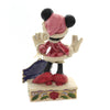 Jim Shore FESTIVE FASHIONISTA Polyresin Minnie Mouse 6002843