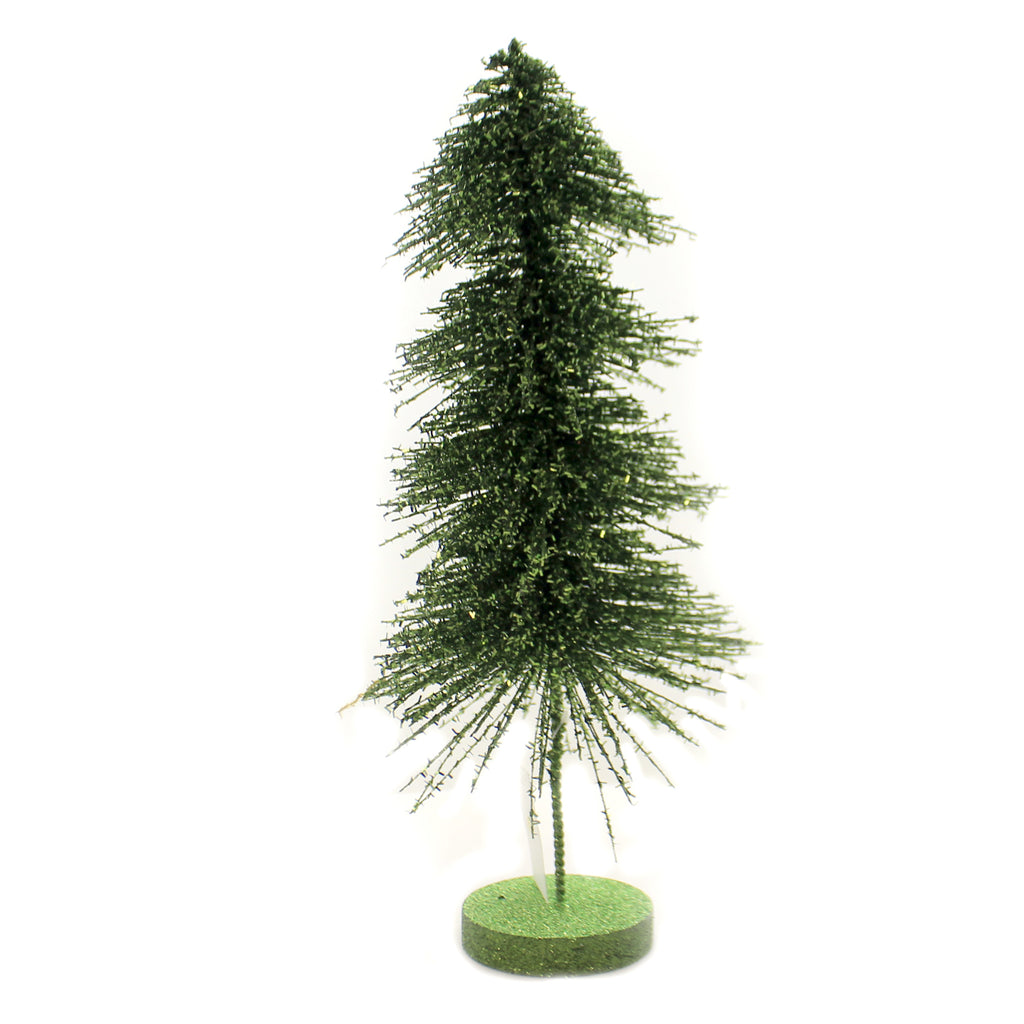 Christmas RETRO GREEN SPARKLE TREE Plastic Glittered Mvd Base Lc8410