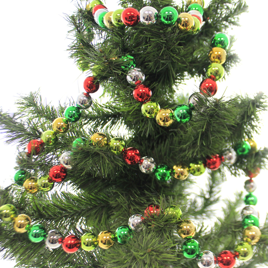 Christmas LARGE JOLLY BEAD GARLAND Plastic Multi Colored Tree Trim Sn7517