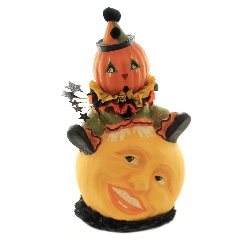 Halloween OVER THE MOON JACK Paper Mache Clown Circus Tj8655