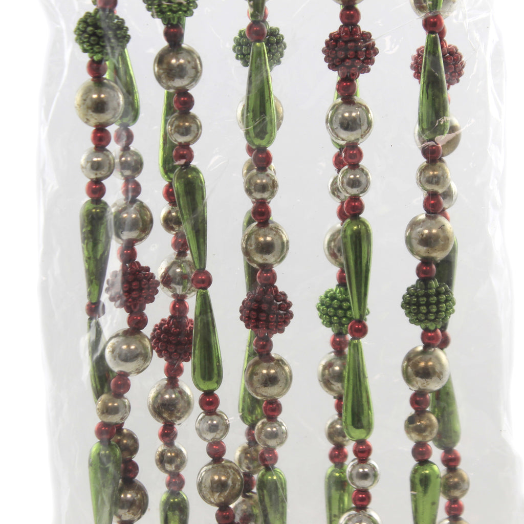 Christmas FANCY CHRISTMAS GARLAND Plastic Beaded Lg2167