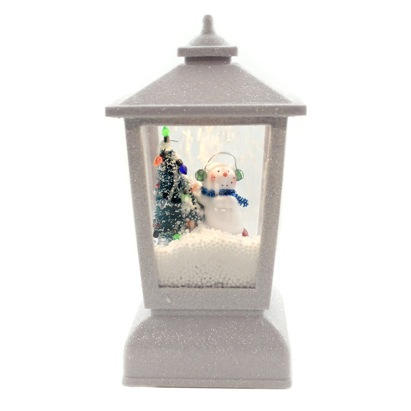 Christmas SNOWMAN LED SNOWBLOW LANTERN Plastic Tree Holiday Festive 132716