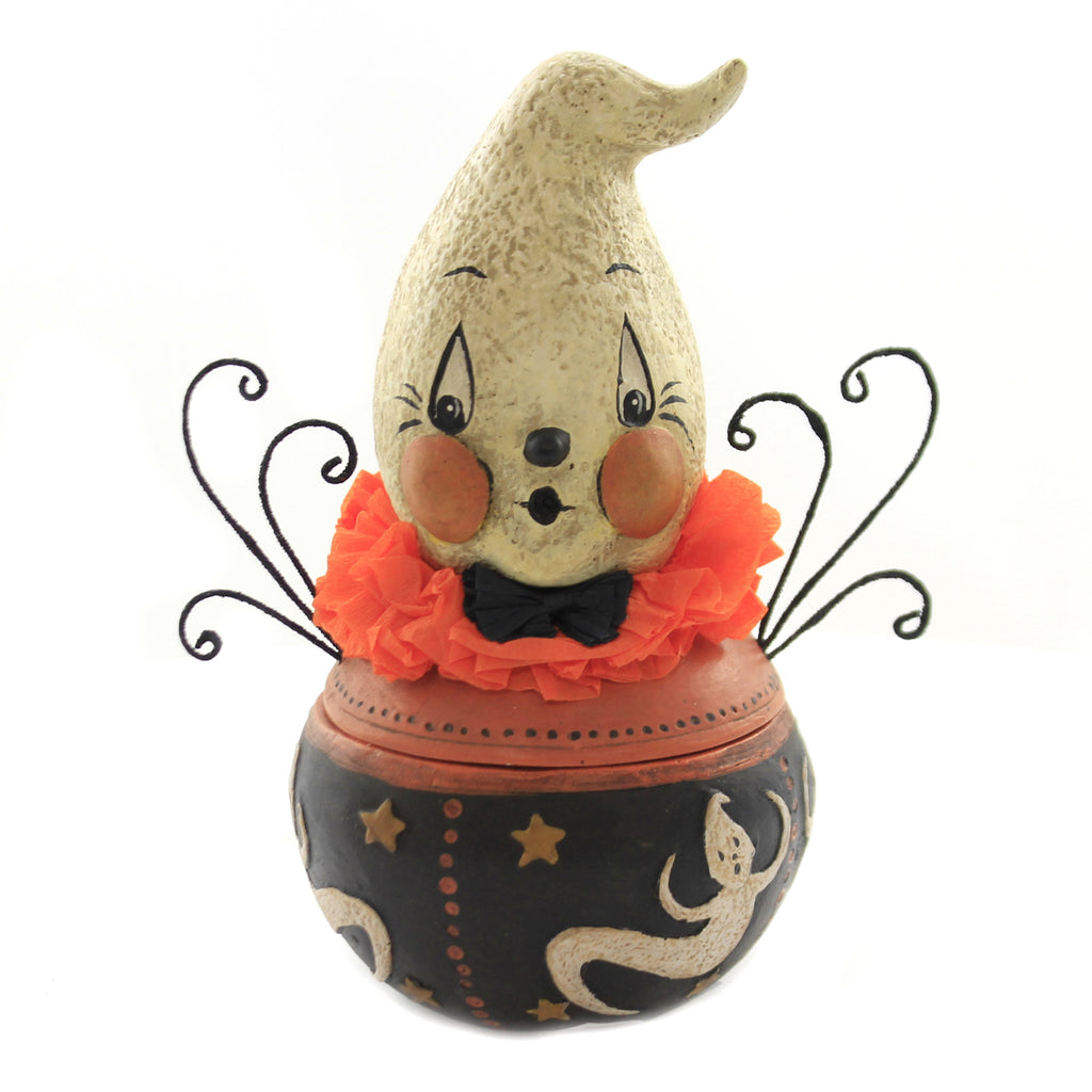 Halloween BOO BOO GHOST CANDY BOWL Polyresin Treats Jp6968