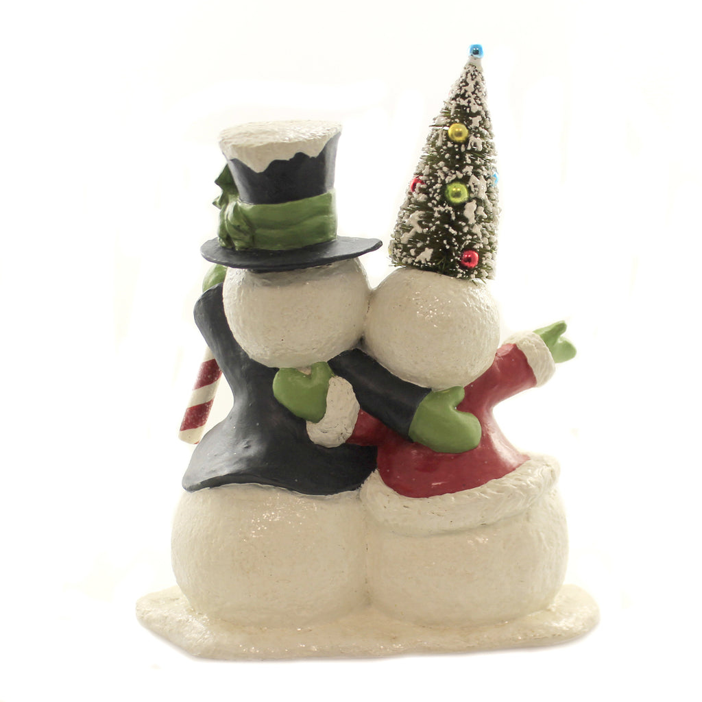 Christmas SNO PALS Snowman Couple Tree Candycane Td8550
