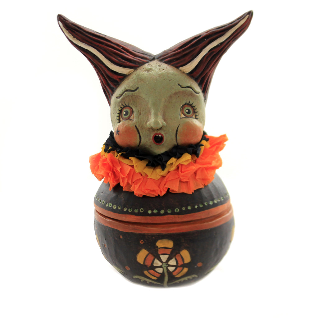 Halloween FRANKIES BRIDE CANDY BOWL Polyresin Monster Candy Corn Jp5160