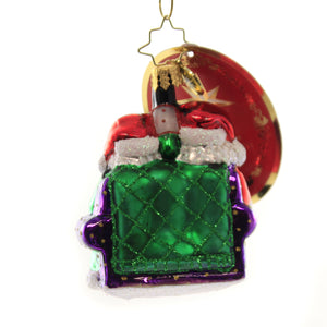 Christopher Radko MR & MRS CLAUSE PAUSE Glass Gem Ornament Santa Claus 1019750