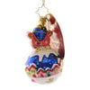 Christopher Radko GLOBAL AFFAIR Glass Gem Ornament Santa Sleigh Globe 1019737