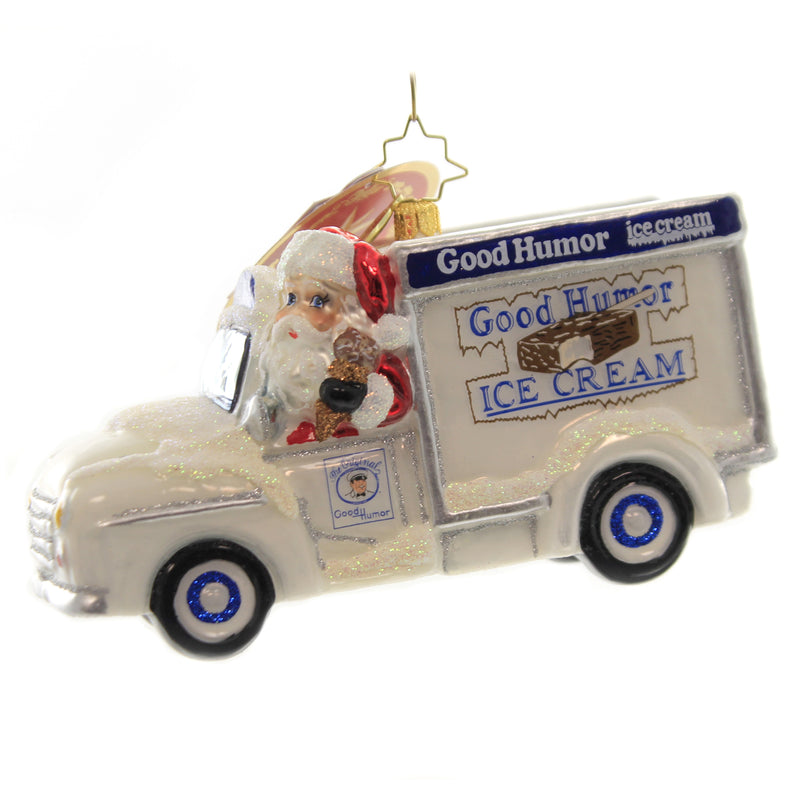 Christopher Radko SANTA HAS GOOD TASTE Ornament Good Humor Bar Santa 1020006