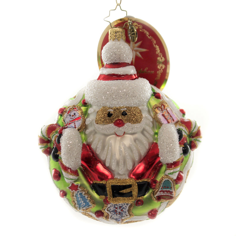 Christopher Radko CANDY FOR ALL Glass Ornament Pastry Donut Santa 1019858