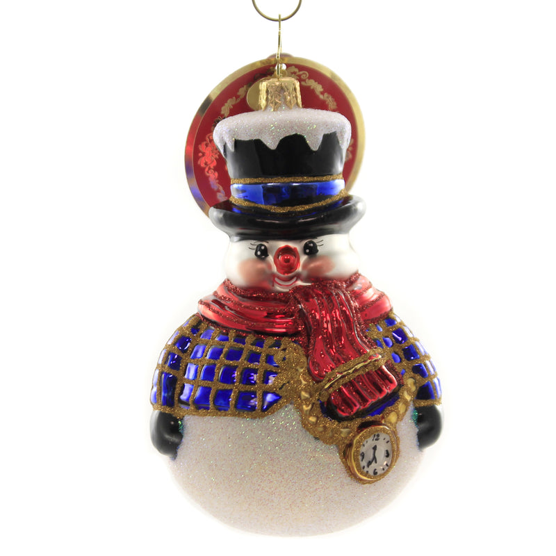Christopher Radko JOLLY ALL A-ROUND SNOWMAN! Glass Ornament Christmas 1019774