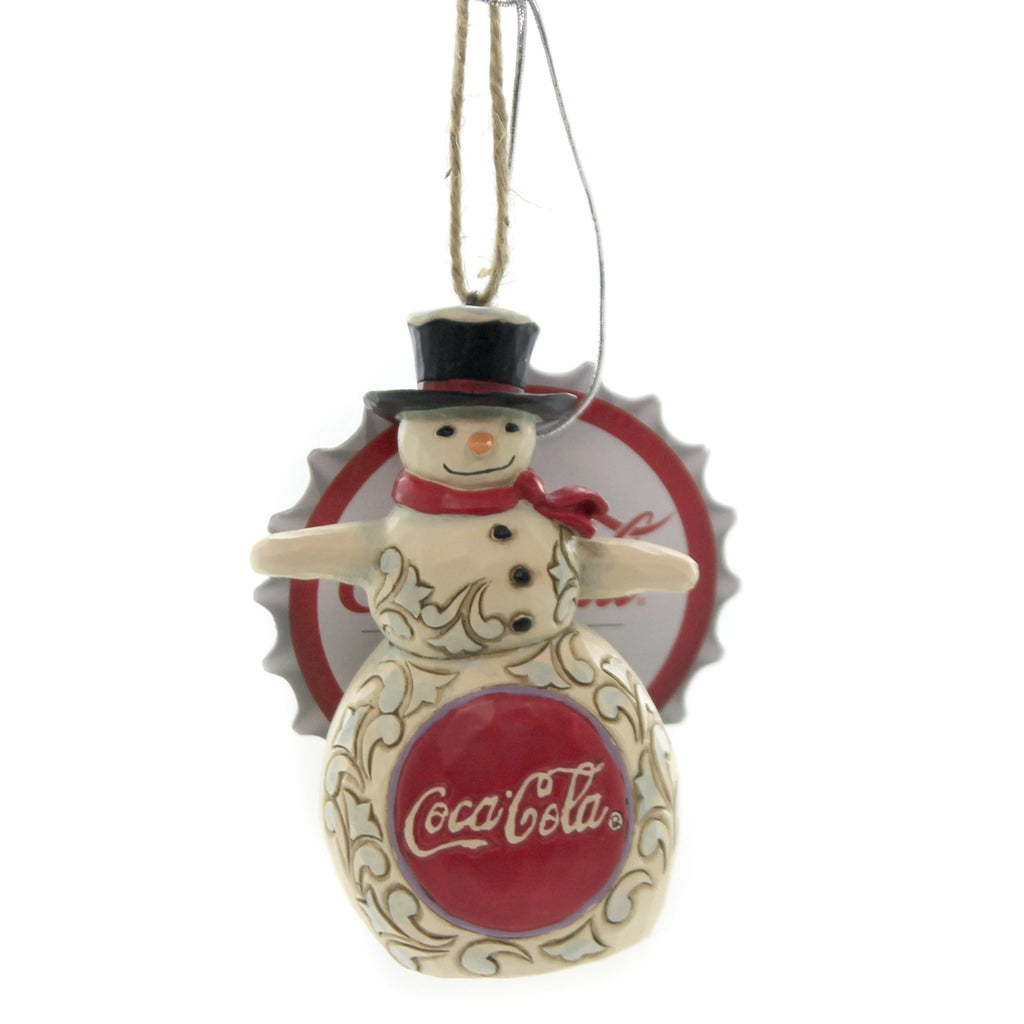 Jim Shore COKE SNOWMAN ORNAMENT Polyresin Coca Cola 6003601