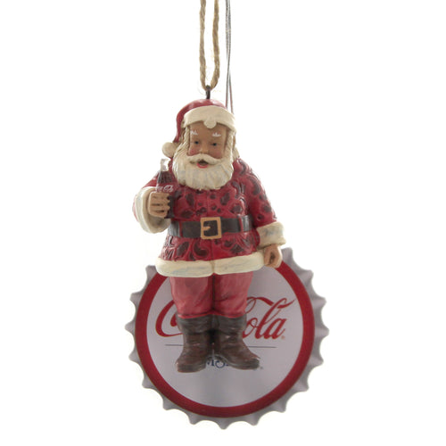 Jim Shore SANTA WITH COKE ORNAMENT Polyresin Coca Cola 6003602