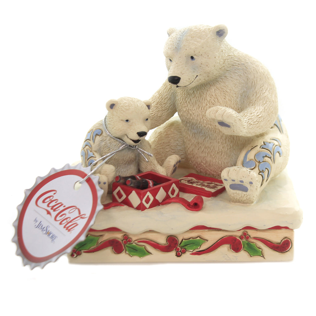 Jim Shore HOLIDAY TREAT Polyresin Polar Bear Present Coca Cola 6003597