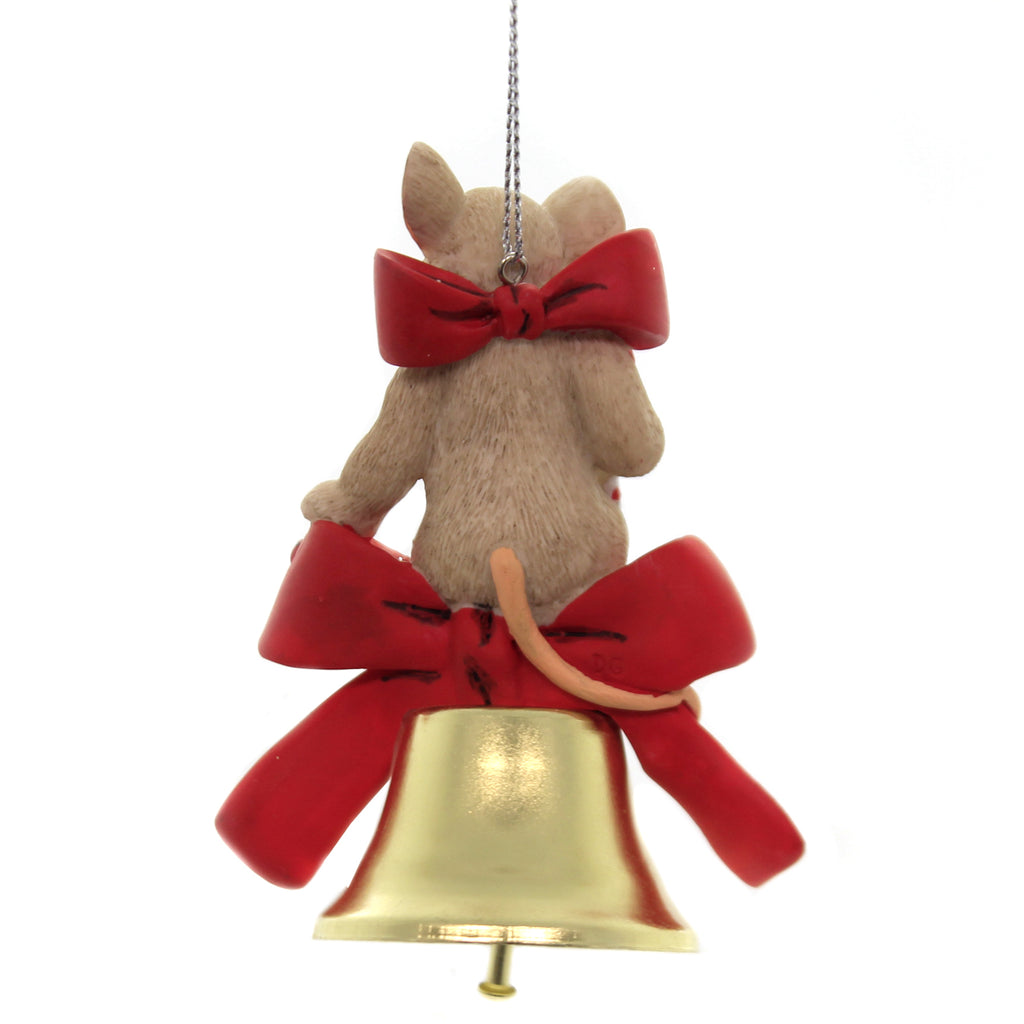 Charming Tails LET THE JOY OF THE YEAR RING THROUGH 2019 Annual Ornament 132093