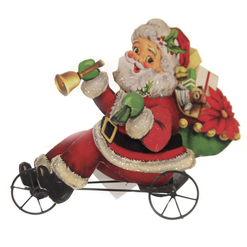 Christmas SANTA ON TRIKE Paper Delivering Presents Peddling Tf8615
