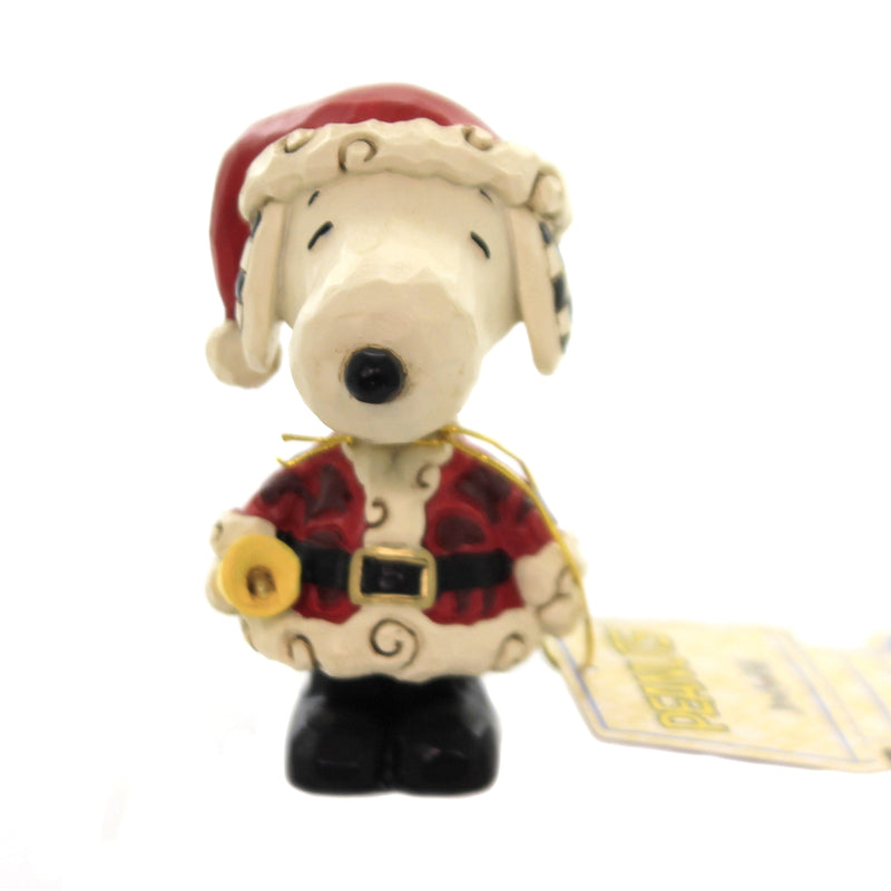 Jim Shore SNOOPY AS SANTA MINI Polyresin Peanuts 6002778