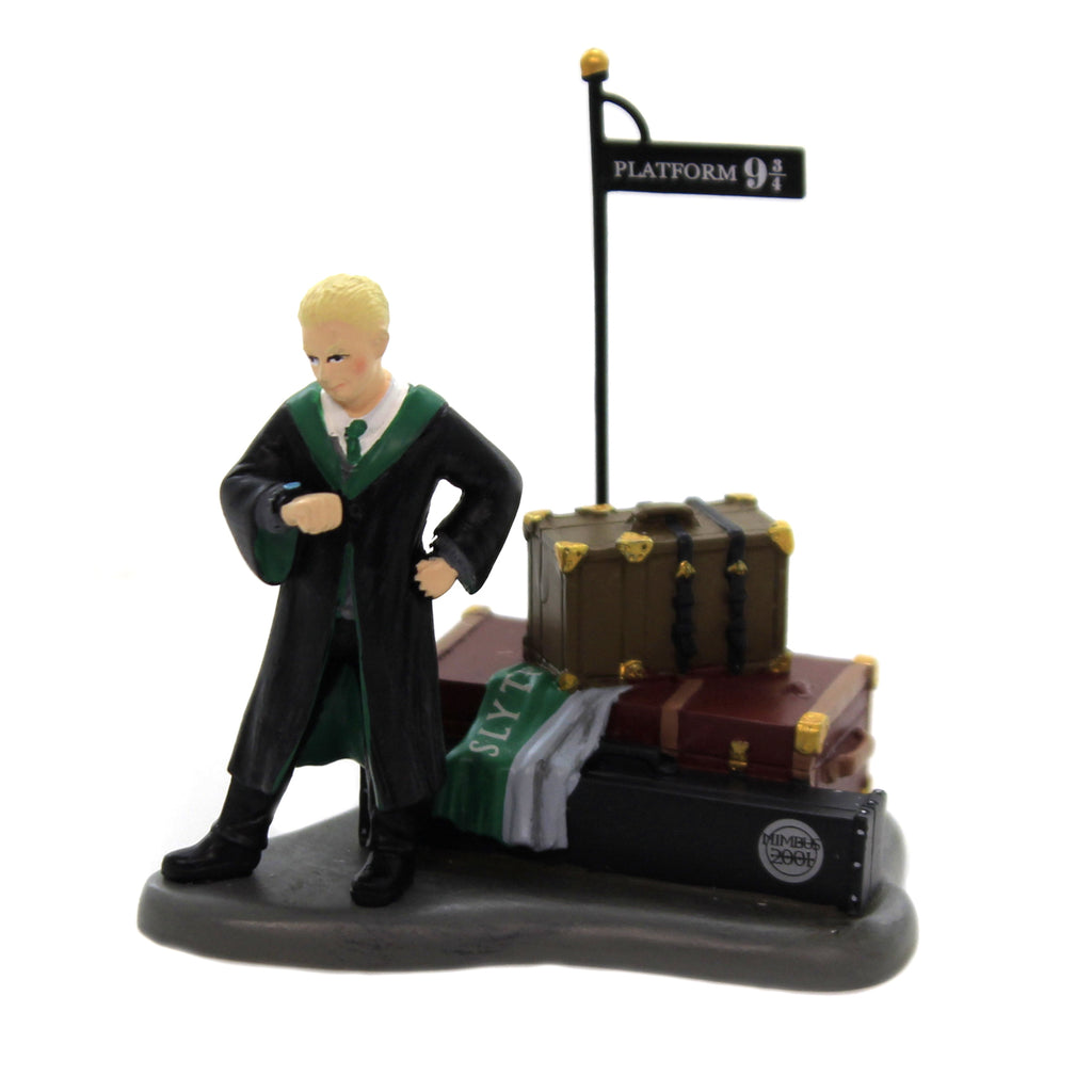 Department 56 Accessory DRACO WAITS AT PLATFORM Polyresin Harry Potter 6003333