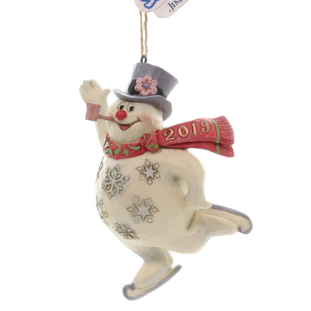 Jim Shore FROSTY ICE SKATING Polyresin Ornament 6004158