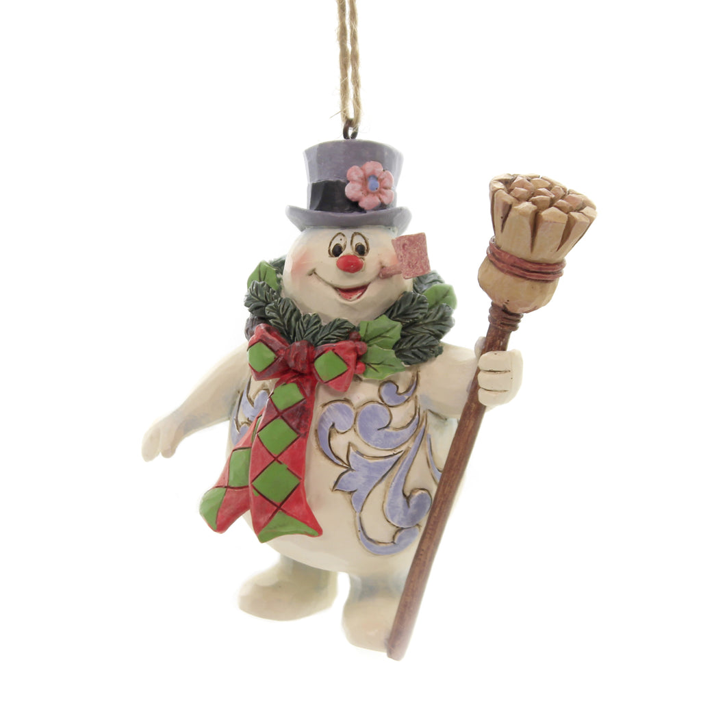 Jim Shore FROSTY WITH WREATH Polyresin Ornament 6004160