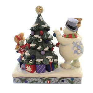 Jim Shore HANG SOME HOLIDAY CHEER Polyresin Frosty Snowman Tree 6004156