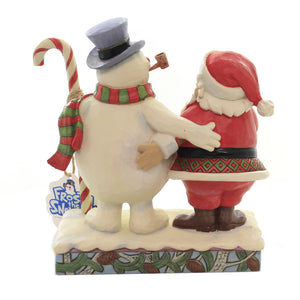 Jim Shore FRIENDS THROUGH ALL SEASONS Polyresin Frosty Snowman Santa 6004157