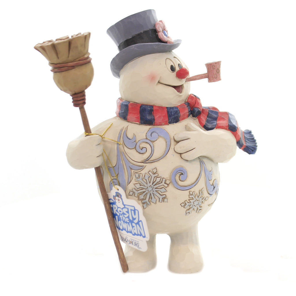 Jim Shore WINTER CHEER FROM EAR TO EAR Polyresin Frosty Snowman 6004154