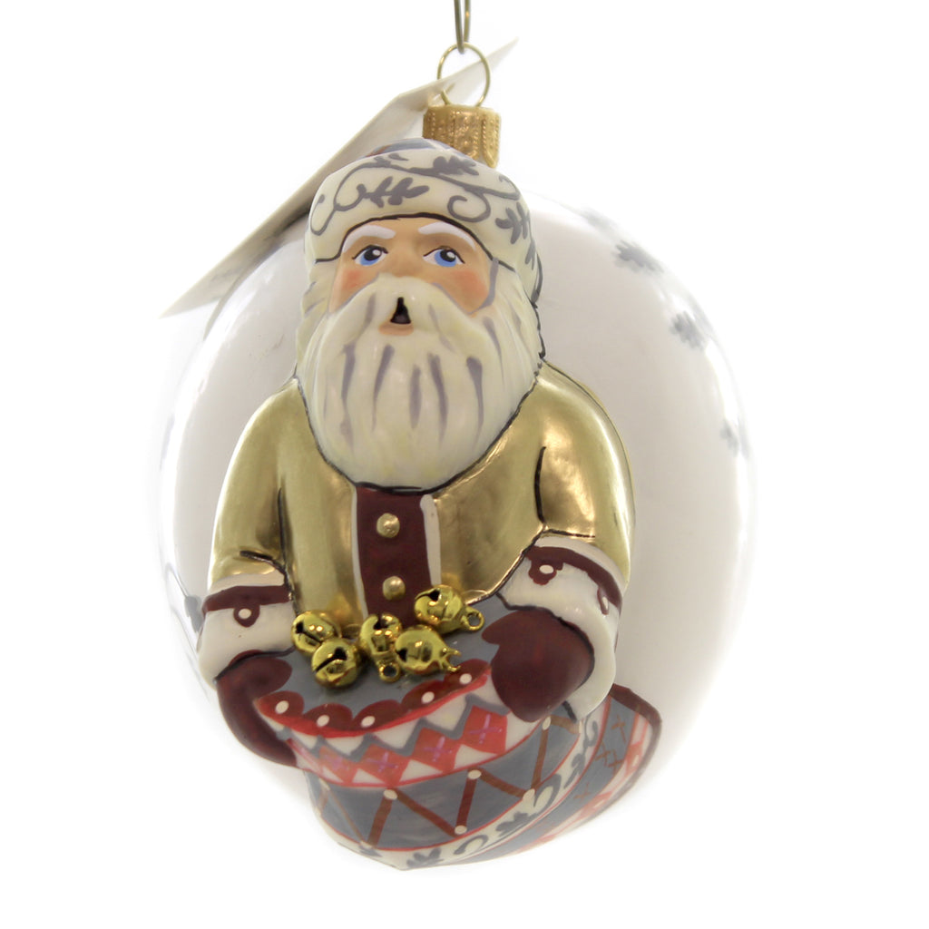 Holiday Ornaments FATHER CHRISTMAS W/ SACK OF BELLS Vaillancourt Jingle Ball Or19508